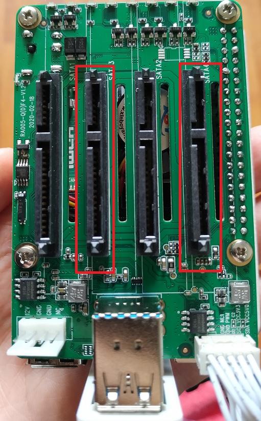 sda sdb_Quad SATA Hat doesnt recognise two disks - Hardware and peripherals - Radxa Forum
